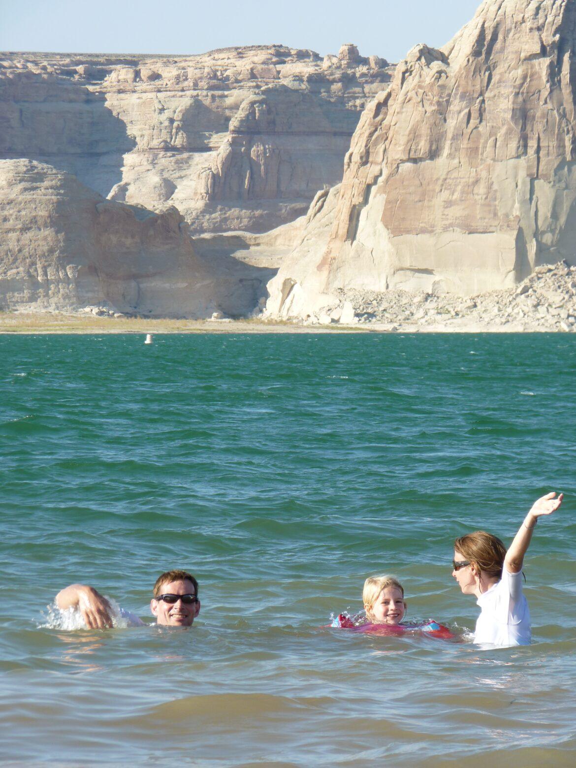 Lake Powell, nous avons nagé dans le Colorado!